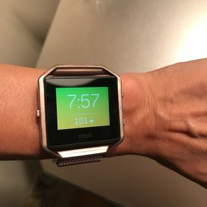 Fitbit Blaze small with purple band + 2 bands